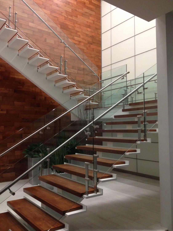 Kubit Glass Railing At Market Axess Nyc: Steel Handrail Systems