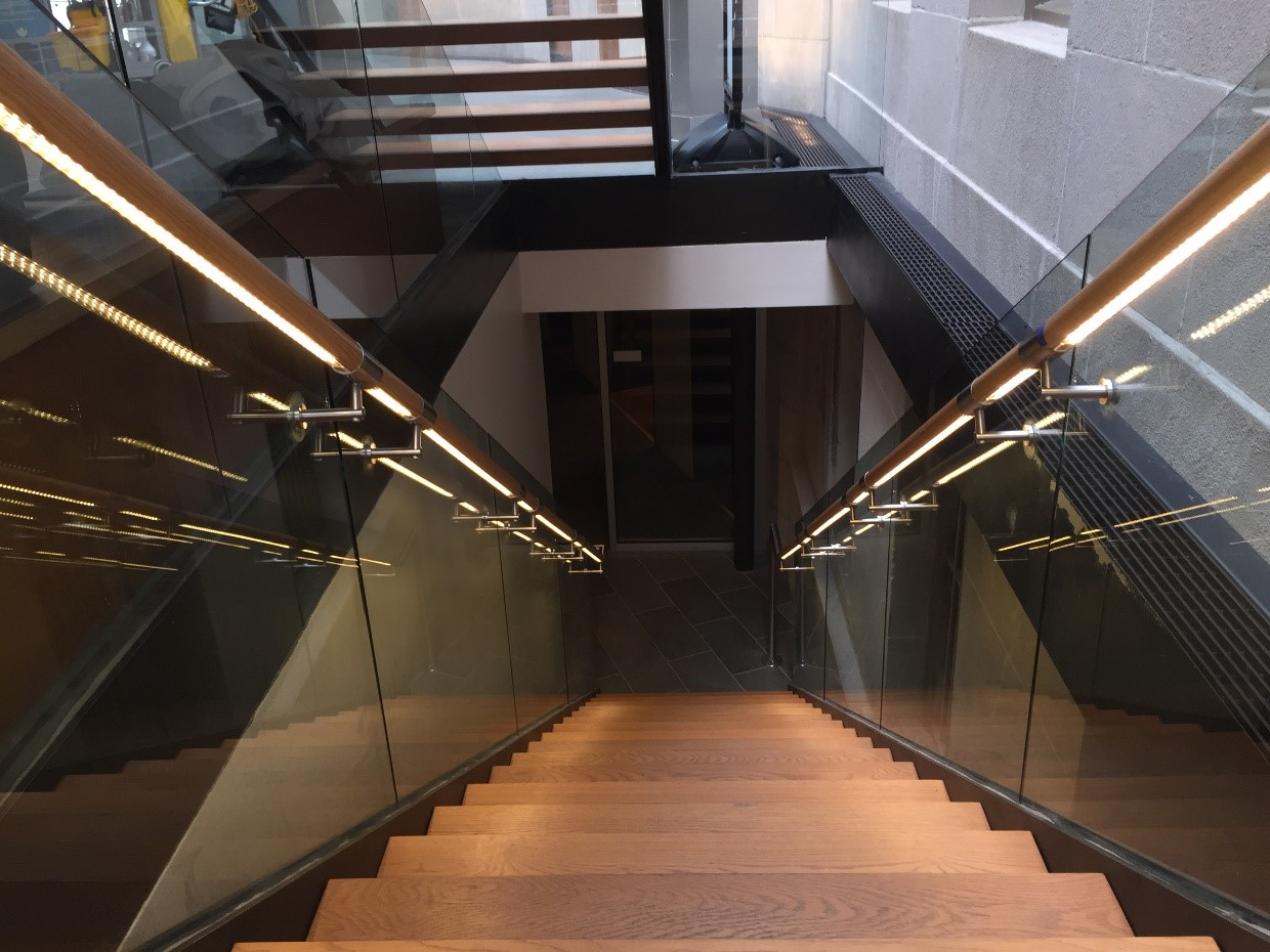 Structural glass supported balustrade systems