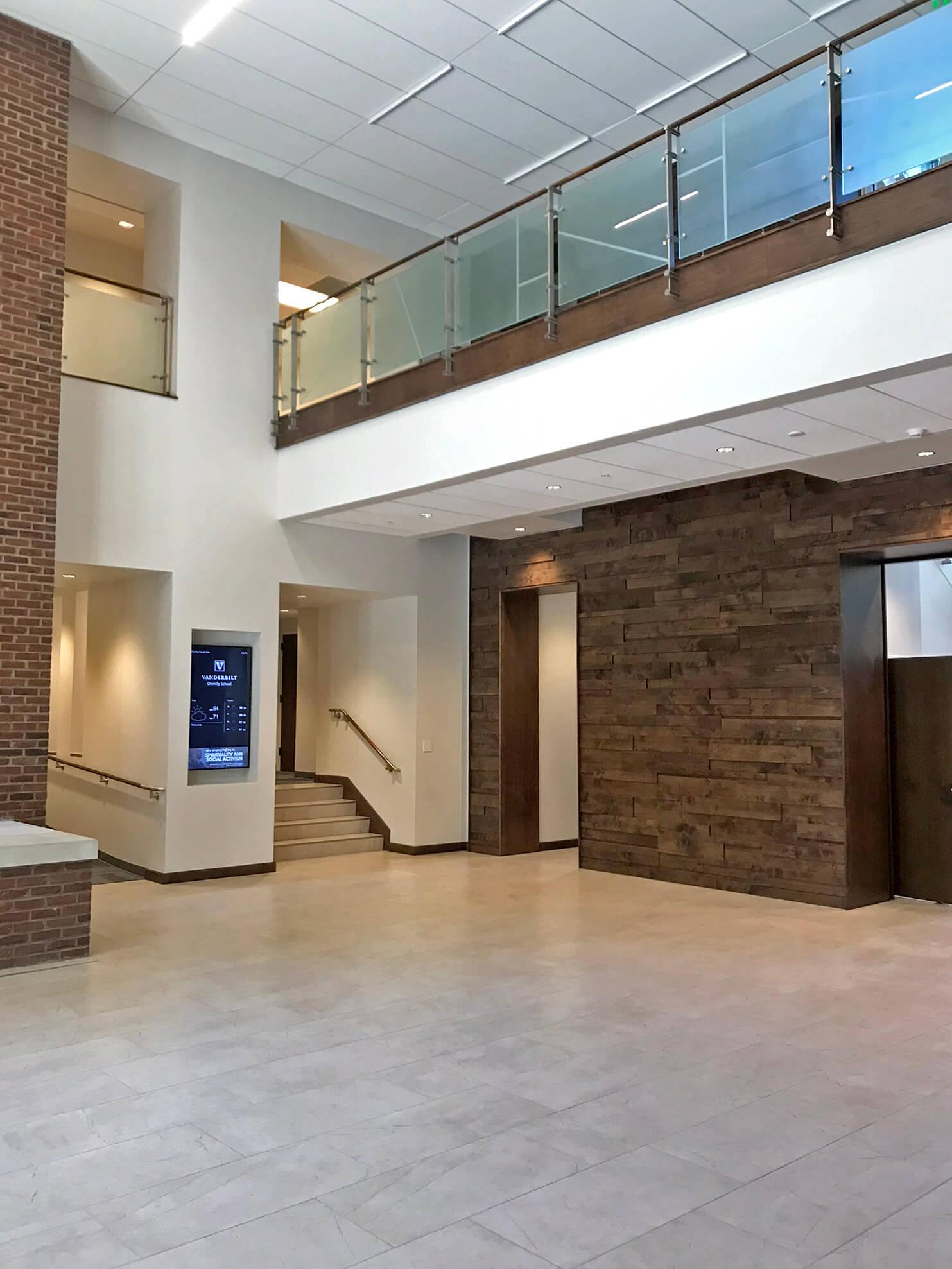 Kubit Glass Railing At Market Axess Nyc: Vanderbilt Divinity School Selects Kubit Railing For The Main Staircase